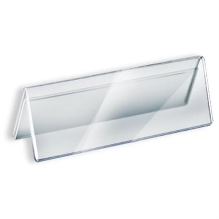 "Azar 192806 11""W x 3""H Two-Sided Acrylic Nameplate , 10Pack by Supplier Generic"