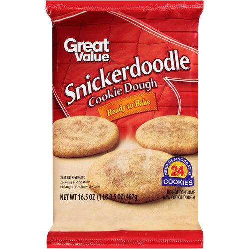 Great Value Snickerdoodle Cookie Dough, 16.5 oz