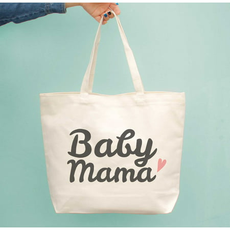 Baby Mama Diaper Canvas Bag Cute Grocery Book Large Bags Gifts For New Moms - Baby Book Bags