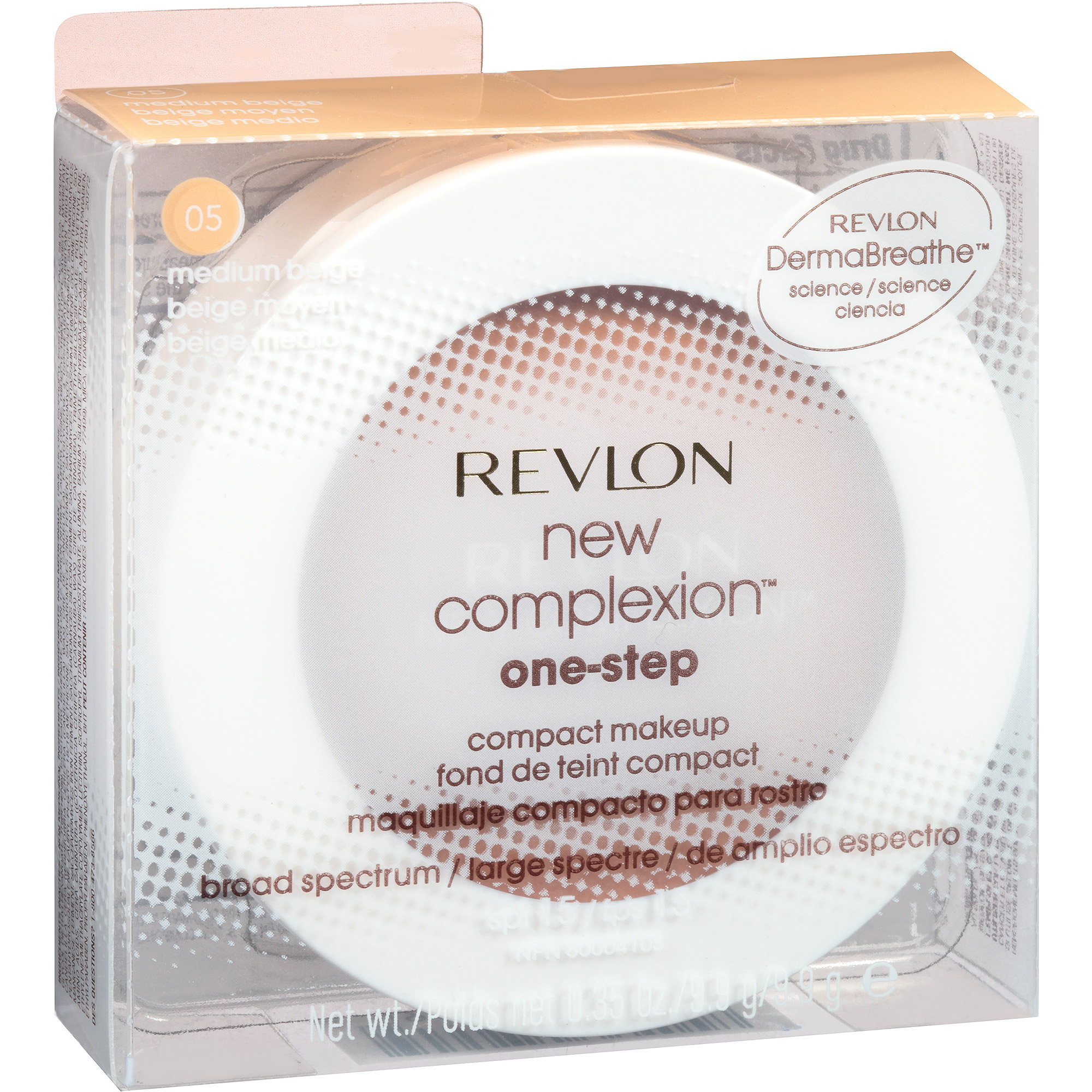 Revlon New Complexion One-Step Compact Makeup, 05 Medium Beige, 0.35 oz
