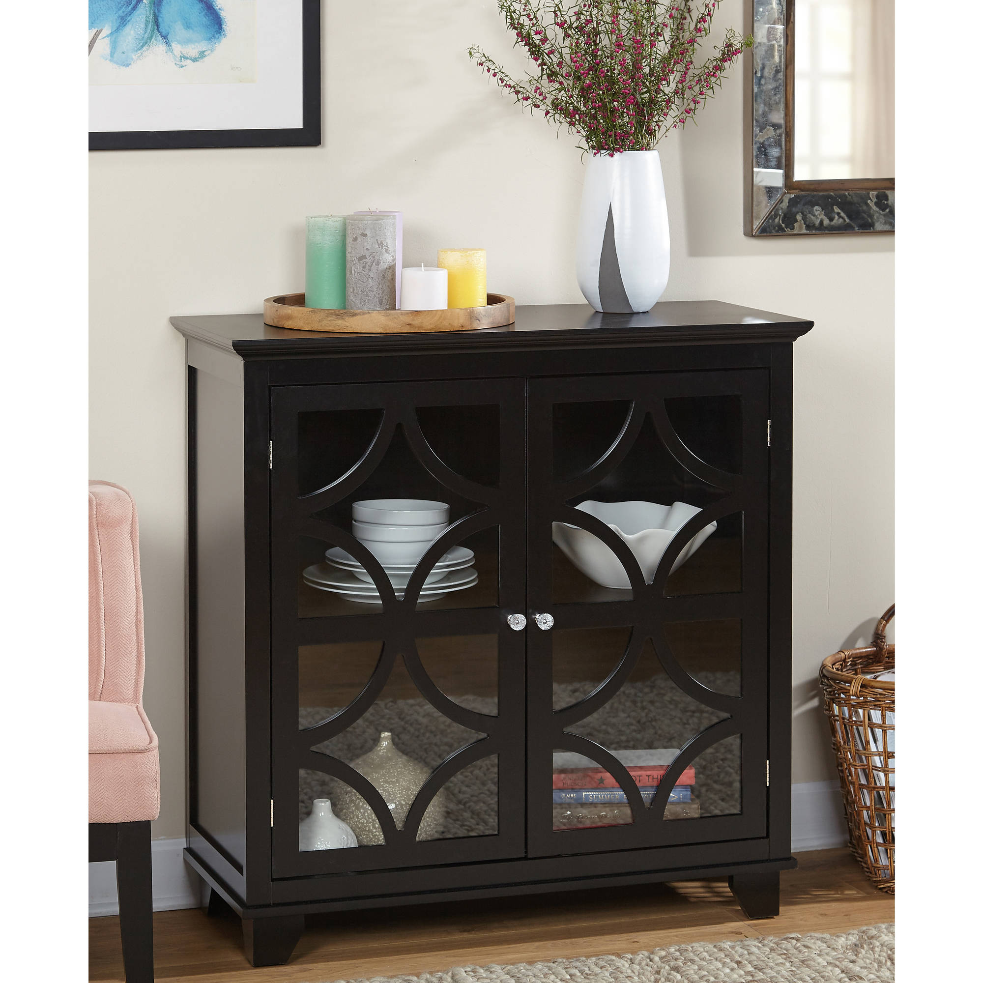 Sydney 2-Door Storage Cabinet, Multiple Finishes