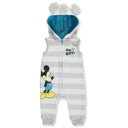 Disney Mickey Mouse Baby Boys' Hooded Coverall](Mickey Mouse Baby Items)