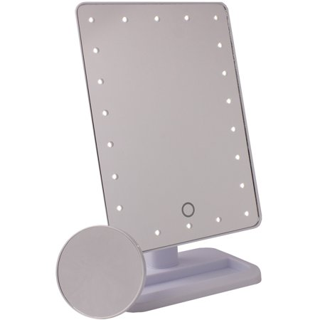 Led Large Lighted Makeup Mirror With Removable 10x Spot