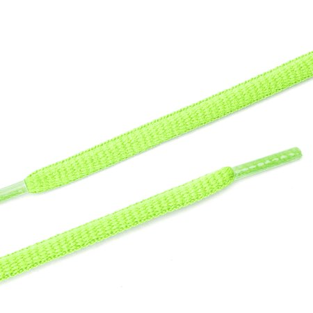 "2 Pairs Oval Half Round Shoelaces Sneakers Bright Green 140 cm/55"" - image 3 de 4"