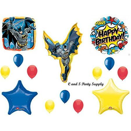 BATMAN COMIC ROBIN Balloons Birthday party Decoration Supplies Pow Gotham Cape by Anagram - Batman And Robin Party Decorations
