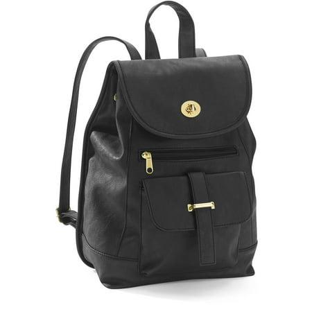 No Boundaries - Women s Mini Faux Leather Backpack Handbag - Walmart.com 9cae748504