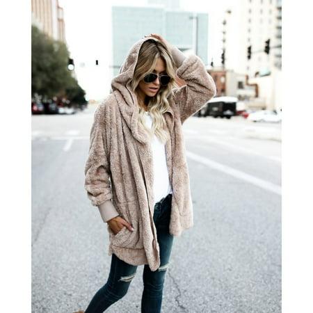 Winter Warm Faux Fur Coat Women