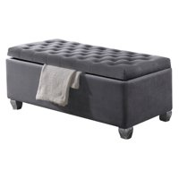 Acme Furniture Rebekah Fabric Bench with Storage