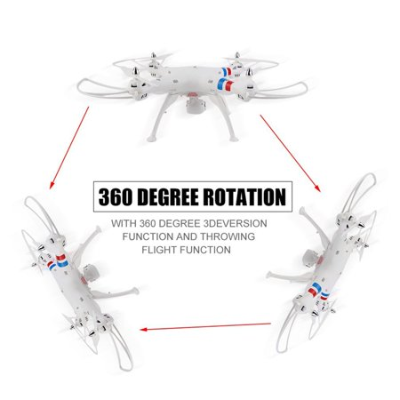 White 2.4G 4CH 6-Axis Gyro Quadcopter RTF dron e 2MP HD Camera for SYMA X8C