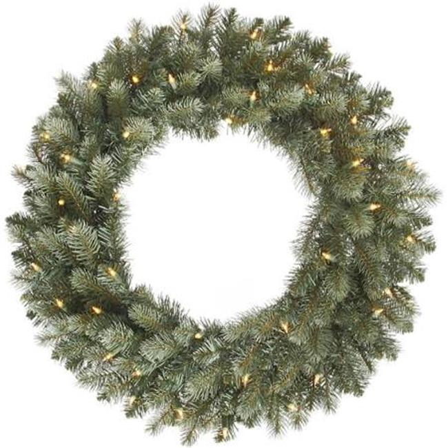 Colorado Spruce Dura-Lit Wreath with Clear Lights - 30 in. - image 1 de 1