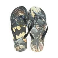 DC Comics Batman Sublimated Mens Flip Flop Sandals | L