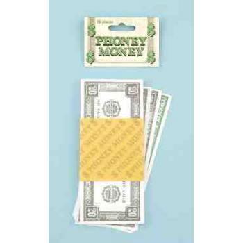 PHONEY MONEY-$20 (50/PK) 12 PACK](Money Costume)