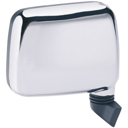 Rodeo Manual Mirror - 64009I - Fit System Passenger Side Mirror for 88-93 Isuzu Pick-Up US built, 91-92 Rodeo, chrome, foldaway, Manual