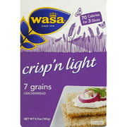 Wasa Crisp'n Light 7 Grains Crackerbread, 4.9 oz, (Pack of 10)