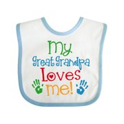 My Great Grandpa Loves Me Gift Baby Bib