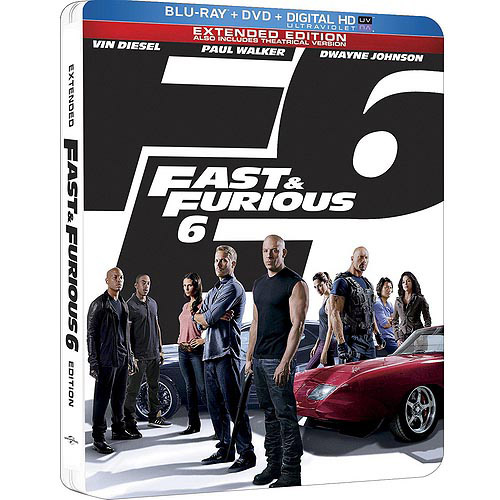 Fast & Furious 6 (Blu-ray + DVD + Digital HD) (Limited Edition Steelbook Package) (Widescreen)