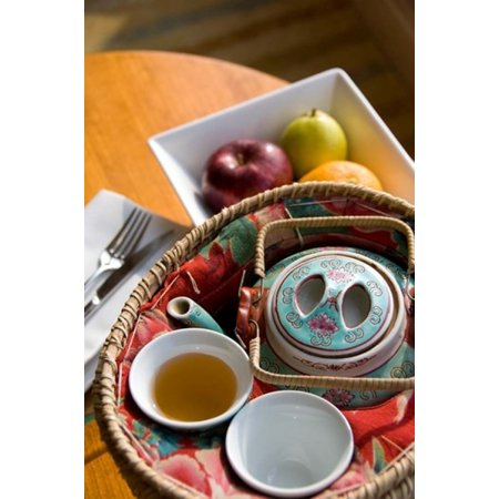 Traditionnelle théière chinoise et tasse Hong Kong Chine Toile Art - Cindy Miller Hopkins danitadelimont (11 x 17)