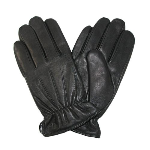 Dockers Men Genuine Leather Sherpa Lined Black Gloves Faux Fur