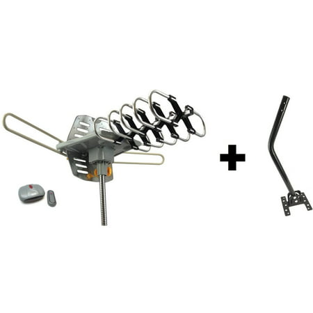 Outdoor Amplified HDTV/UHF/VHF Antenna Remote Control 360 Degree Motorized Rotation Kit