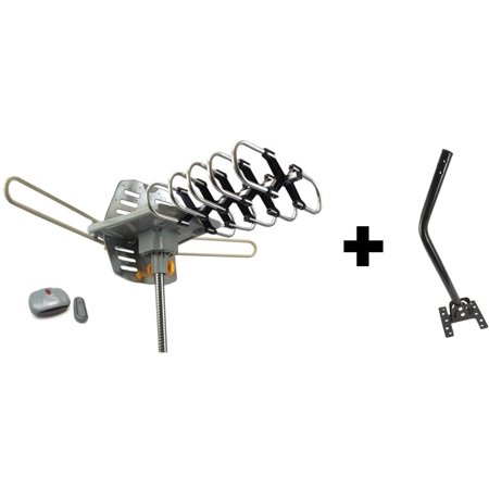 Outdoor Amplified HDTV/UHF/VHF Antenna Remote Control 360
