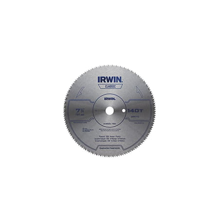 IRWIN 11440 Circular Saw Blade, 7-1/4 in Dia, Steel Cutting Edge, 5/8 in Arbor,