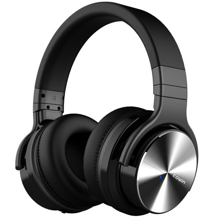 Active Bass Preamp - COWIN E7 PRO [2018 Upgraded] Active Noise Cancelling Headphones Bluetooth Headphones with Microphone Deep Bass Wireless Headphones Over Ear 30H Playtime - Black
