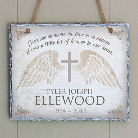 Personalized Memorial Cross Wall Slate (Personalized Crosses)