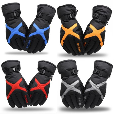 Ski Gloves Men And Women Winter Plus Velvet Thickened Warm Motorcycle Waterproof Non-Slip Bicycle Electric Cotton Gloves