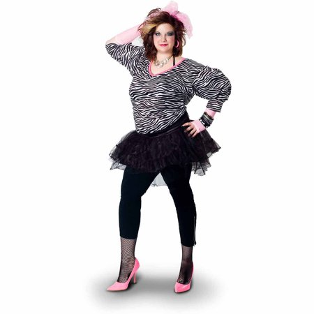 Lava Diva Hip Hop 80's Women's Plus Size Adult Halloween Costume