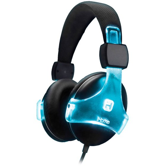 iHome Color-Changing Rechargeable Headphones with Microphone ...