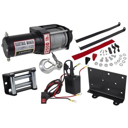 NEW 2500lb ELECTRIC BOAT UTILITY TOWING TRAILER WINCH W/ REMOTE CONTROL FITS ATV
