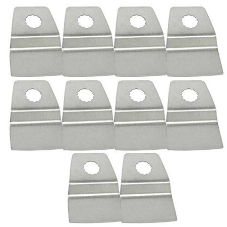 Versa Tool SB10M Pack of 10 Universal Multi Tool Fitment Oscillating Scraper - 52mm Stainless Steel Flexible Scraper, 8mm Offset Mount Fits Fein Multimaster, Rockwell, Sonicrafter,