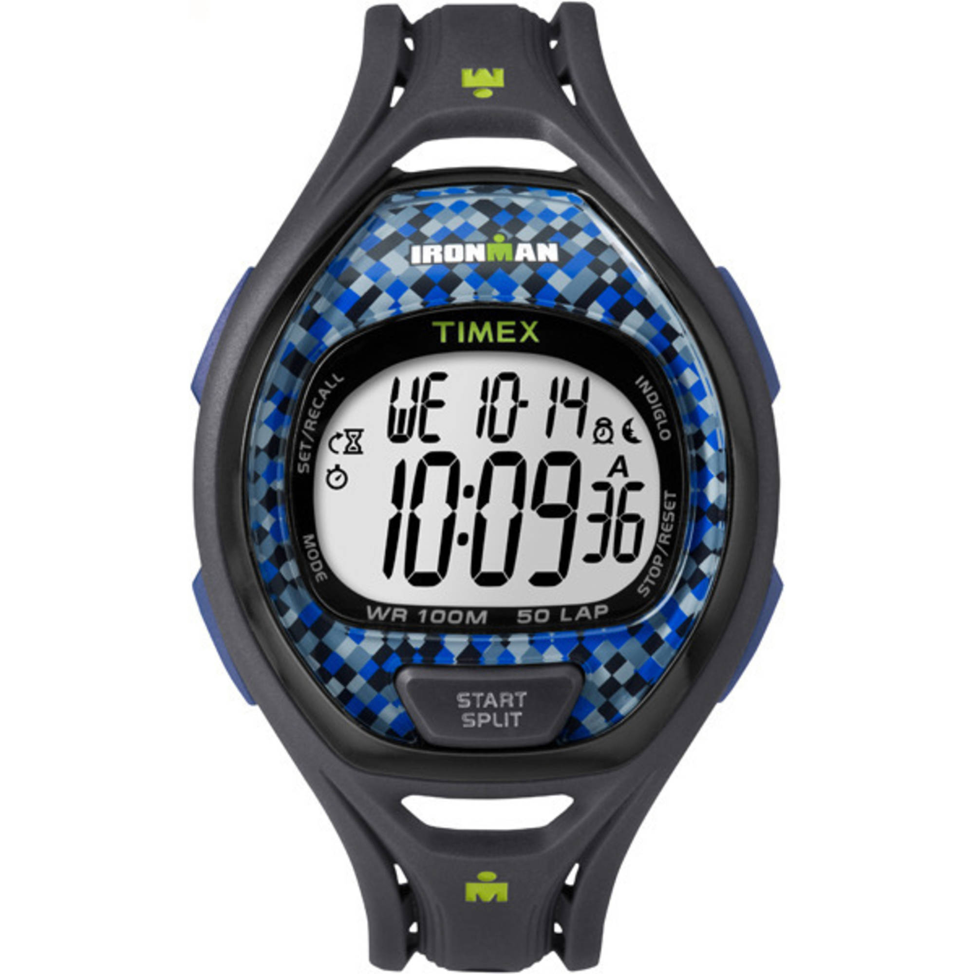 Timex Ironman Sleek 50 Full-Size Blue/Gray Watch, Resin Strap