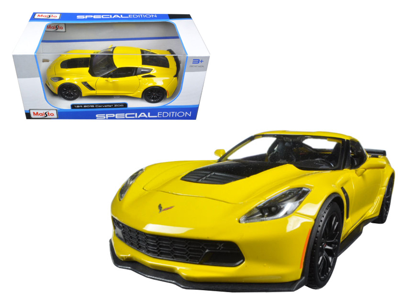 2015 Chevrolet Corvette Stingray C7 Z06 Yellow 1/24 Diecast Model Car By  Maisto