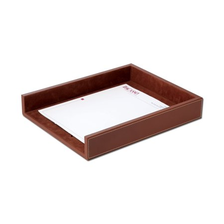 Rustic Brown Leather Letter Tray Brown Leather Letter Tray