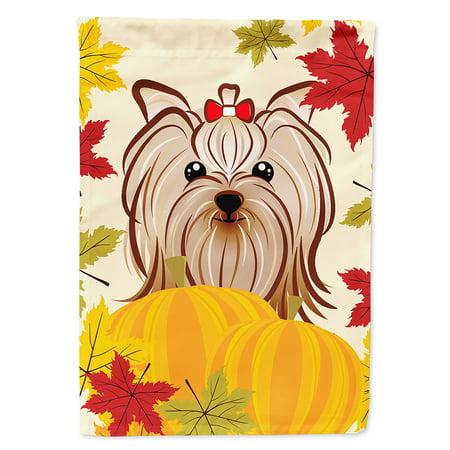 - Yorkie Yorkshire Terrier Thanksgiving Garden Flag