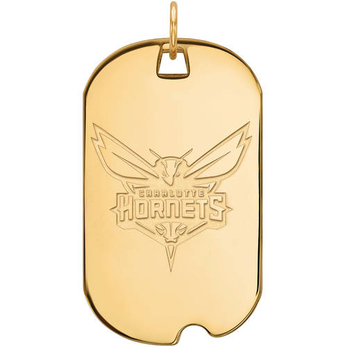 LogoArt NBA Charlotte Hornets 10kt Yellow Gold Large Dog Tag