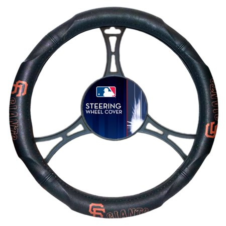 """San Francisco Giants Headrest Covers (MLB San Francisco Giants Steering Wheel Cover (Made to fit 14.5""""-15.5"""" steering wheels)"""
