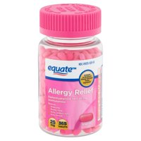 Equate Allergy Relief Diphenhydramine Tablets 25mg, 365 Count