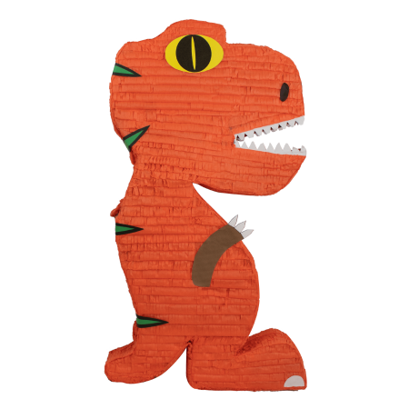 Jumbo Dinosaur Party Pinata Orange 18in X 38in