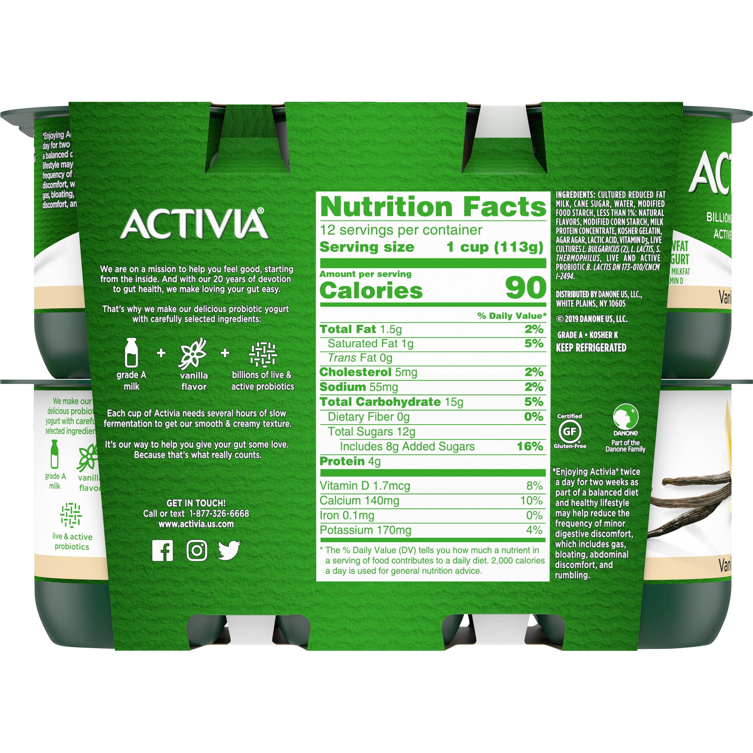 Activia Vanilla Lowfat Probiotic Yogurt
