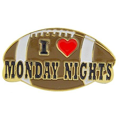 I Love Monday Night Football Pin 1