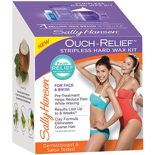 Sally Hansen Ouch-Relief Stripless Hard Wax Kit, 3 pc