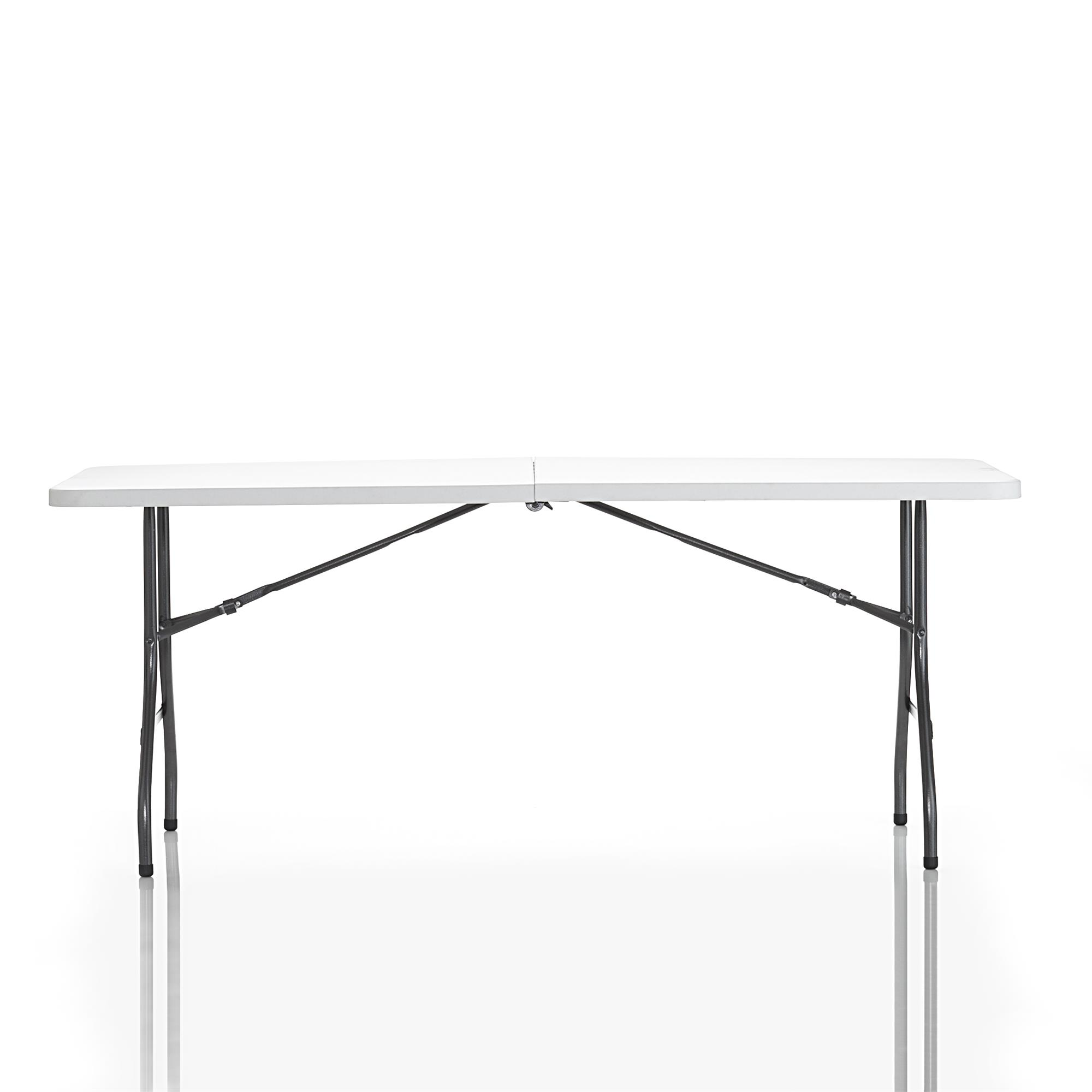 Cosco 2 Pack 6 Foot Centerfold Folding Table White Walmart Com Walmart Com
