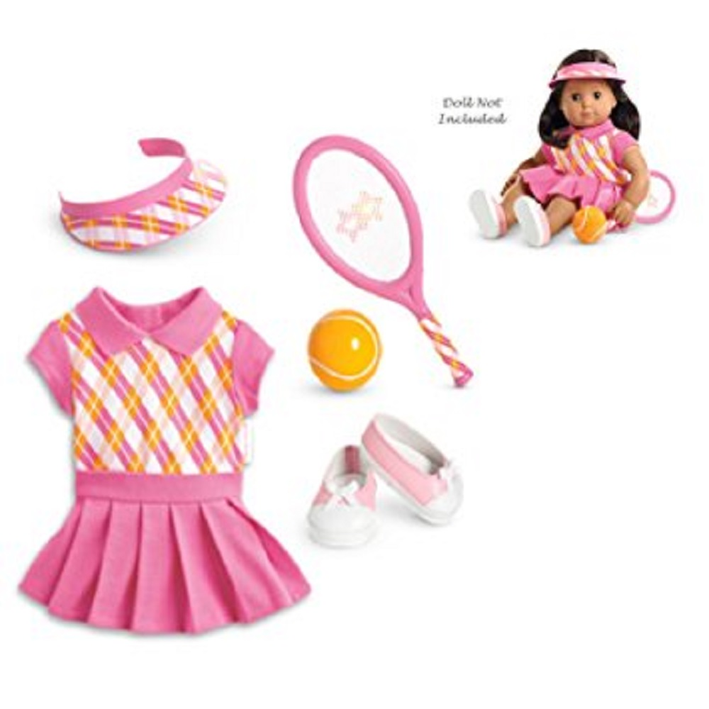American Girl Bitty Baby Twin Girl Tennis Pro Ouffit and Accessories by American Girl