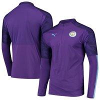 Manchester City Puma DryCELL Quarter-Zip Training Pullover Jacket - Purple