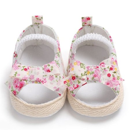 Hot Sell summer baby girl Flora Printed Crib Shoes (Two Hot Girls On A Hot Summer Night)