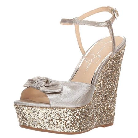 Amella Glitter Wedge Sandals - Shimmer Clothes