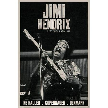Jimi Hendrix Copenhagen Concert Music Poster 24X36