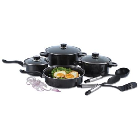 Alpine cuisine 10 piece nonstick cookware set for Alpine cuisine ceramic cookware
